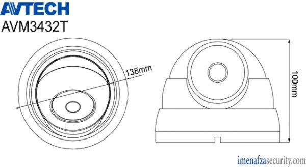 دوربین تحت شبکه AVTECH مدل AVM3432T