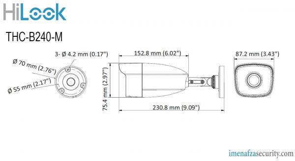 دوربین HiLook مدل THC-B240-M