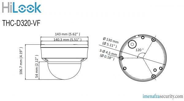 دوربین HiLook مدل THC-D320-VF